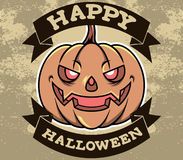 Bani Kierownicza Halloweenowa odznaka Ilustracja Wektor