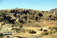 Bani Matar village. In Yemen Stock Photography