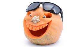 Bania dla Halloween rzeźbił w formie uśmiechu zdjęcia stock