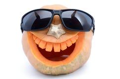 Bania dla Halloween rzeźbił w formie uśmiechu zdjęcie stock