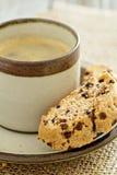 Bania, dokrętki i czekoladowy biscotti, Obrazy Royalty Free