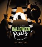 Bania w kostiumowym Halloween przyjęciu Fotografia Stock