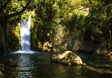 Banias Waterfall and park Royalty Free Stock Photography