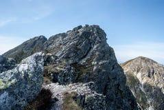 Banikov and Pachola mountain peaks in Zapadne Tatry mountains in Slovakia. Rocky Banikov and Pachola mountain peaks on Rohace mountain group in Zapadne Tatry royalty free stock photos