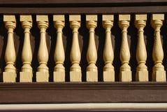 banister деревянный Стоковое Изображение