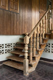 Banister carving wooden thai style Stock Photo