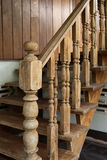 Banister carving wooden thai style Royalty Free Stock Photos