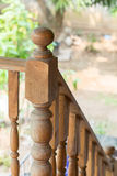 Banister carving wooden thai style Royalty Free Stock Photo