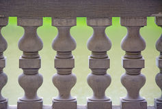 Banister colonnade close up Stock Photo