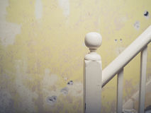 A banister and post in old house Royalty Free Stock Photography