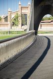 Banisters of footbridge Stock Image