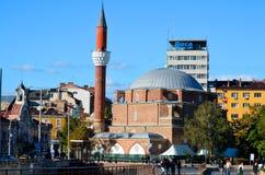 The Banja Baschi mosque. SOFIA, BULGARIA SEPTEMBER 18: The Banja Baschi mosque, landmark and biggest mosque in Bulgaria, on September 18, 2013 in Sofia, Bulgaria Royalty Free Stock Image