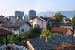 Banja Luka architecture. Skyline of Banja Luka in the morning. Bosnia and Herzegovina Royalty Free Stock Photography