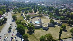 Banja Luka - Fortress Kastel. Fortress Kastel is located in Banja Luka and represents the oldest historical monument in this town. It was built on the left bank Stock Photo