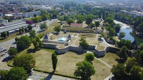 Banja Luka - Fortress Kastel. Fortress Kastel is located in Banja Luka and represents the oldest historical monument in this town. It was built on the left bank Royalty Free Stock Photo
