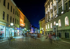 Banja Luka huvudsaklig gata arkivbild