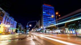 Banja Luka på natten fotografering för bildbyråer