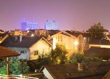 Banja Luka skyline. Skyline of Banja Luka at night. Bosnia and Herzegovina Royalty Free Stock Photos