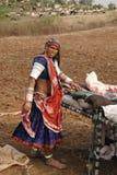 banjara印度妇女 库存图片