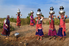 banjara印度妇女 免版税库存图片
