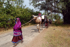 Banjara Tribes in India Royalty Free Stock Image