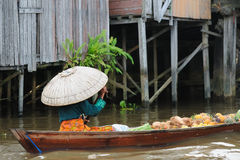 banjarmasin floating indonesia market 免版税库存图片