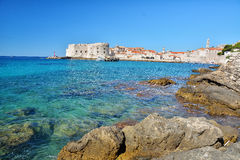 Banje Beach - Dubrovnik Croatia Royalty Free Stock Photos
