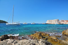Banje Beach - Dubrovnik Croatia Royalty Free Stock Photography