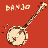 Banjo illustration stock