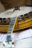 Banjo. The banjo is a stringed instrument developed by enslaved africans Royalty Free Stock Images