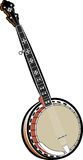 Banjo. A digital illustration of a banjo Royalty Free Stock Images