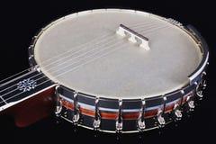 Banjo aislado en fondo negro Imagen de archivo libre de regalías