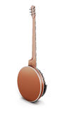Banjo back side. On white background. 3d illustration Royalty Free Stock Image