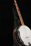 Banjo on Black Stock Photo