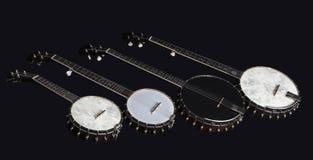 banjo  on black background Royalty Free Stock Image