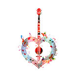 Banjo Coração-dado forma Fotografia de Stock
