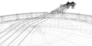 Banjo - corda 5 illustrazione vettoriale