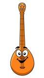 Banjo de bande dessinée d'amusement avec un visage de sourire heureux Photo stock