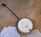 Banjo de la vendimia Imágenes de archivo libres de regalías