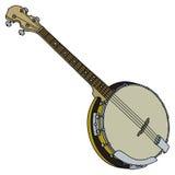 Banjo de quatre ficelles Image libre de droits