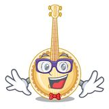 Banjo del geek nella stanza di musica del fumetto illustrazione vettoriale