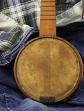 Banjo on Denim Stock Images