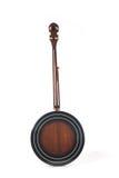 Banjo detrás aislado en un fondo blanco Foto de archivo libre de regalías