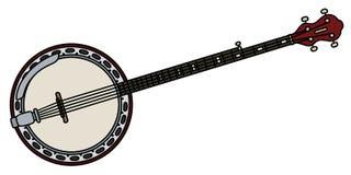 Banjo för fem rader vektor illustrationer