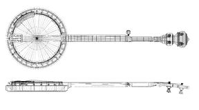 Banjo - ficelle 5 Images libres de droits