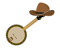 Banjo and hat Royalty Free Stock Images