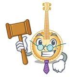 Banjo miniatura del giudice nelle forme del fumetto illustrazione vettoriale