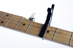 Banjo neck with capo Royalty Free Stock Image