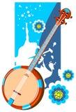 Banjo On A Grunge Background Stock Photography
