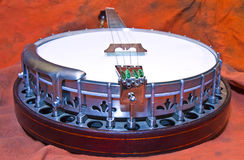 Banjo on Orange Stock Photo